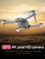 Drone F3 avec GPS, 4K, WiFi, 5G + 2 caméras + 3 batteries + sac